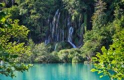 Plitvice湖小瀑布 免版税图库摄影