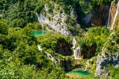 Plitvice湖瀑布,克罗地亚 免版税库存图片