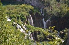 Plitvice湖瀑布 库存图片