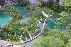 Plitvice湖瀑布 库存照片