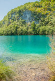 Plitvice湖,克罗地亚 免版税库存照片