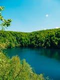 plitvice λιμνών της Κροατίας Το έδαφος του εθνικού πάρκου Στοκ εικόνα με δικαίωμα ελεύθερης χρήσης