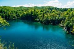 plitvice λιμνών της Κροατίας Το έδαφος του εθνικού πάρκου Στοκ Εικόνες