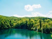 plitvice λιμνών της Κροατίας Το έδαφος του εθνικού πάρκου Στοκ φωτογραφία με δικαίωμα ελεύθερης χρήσης