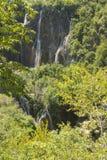 plitvice красивейших течений свежее зеленое окружило водопады водопада вегетации Стоковая Фотография RF