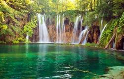 plitvice национального парка озер Стоковые Изображения