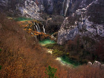 plitvice национального парка Хорватии Стоковые Изображения RF