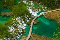 plitvice национального парка озер Хорватии Стоковое Изображение RF