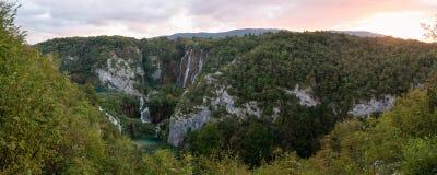 plitvice национального парка Хорватии Стоковая Фотография