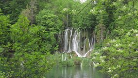 plitvice парка Хорватии европы водопад самого большого национального самого старого юговосточый сток-видео