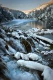 湖国家公园plitvice 免版税库存照片