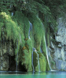 Plitvice. Waterfalls on Plitvice lakes, Croatia royalty free stock image