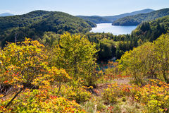 Plitvice autumn panorama Stock Image