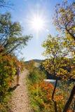Plitvice autumn trail Stock Photo