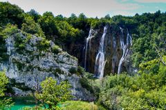 Plitvice Big waterfall Royalty Free Stock Photos