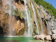 Plitvice Big Waterfall Royalty Free Stock Images
