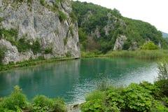 plitvice croatia jezior Fotografia Royalty Free