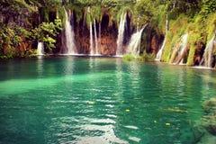 Plitvice Croatia lata parka narodowego 2016 krajobrazowa natura Fotografia Royalty Free