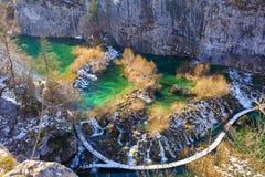 plitvice de stationnement national de lacs de la Croatie photographie stock