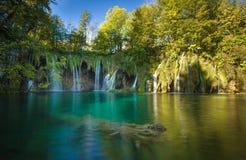 plitvice de stationnement national de lacs de la Croatie Site d'héritage de l'UNESCO Photos libres de droits