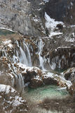 Plitvice en hiver Photographie stock