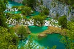 plitvice för croatia lakesnationalpark Arkivfoto