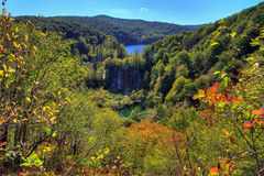 Plitvice fall waterfall Royalty Free Stock Image