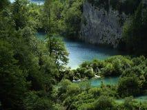 Plitvice-jezera park narodowy - rzeka Fotografia Stock