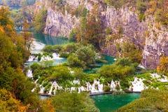 Plitvice jezior parka narodowego krajobraz Obrazy Royalty Free