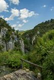 Plitvice jezior parka narodowego krajobraz w Chorwacja Zdjęcia Royalty Free