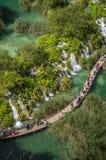 Plitvice jeziora Obrazy Royalty Free