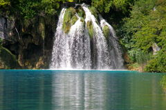Plitvice lake. National park, Croatia Stock Image