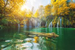 Plitvice lake in Croatia Stock Image