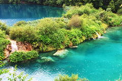 Plitvice lake with magic colors Stock Photos
