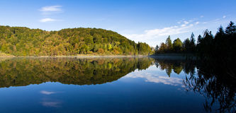 Plitvice lake reflection Royalty Free Stock Photo