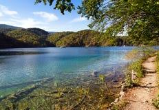 Plitvice lake trail Stock Photography