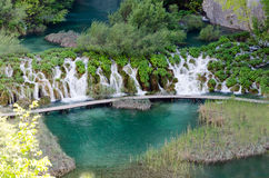 Plitvice. Lake and Waterfall Royalty Free Stock Photos