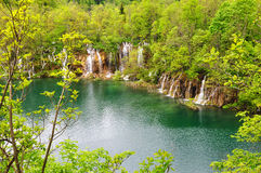 Plitvice lake waterfalls stock photography
