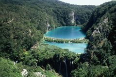 Plitvice Lakes. The Plitvice Lakes is a unique natural pearl unrepeatable on any meridian or parallel of planet Earth...Srecko Bozicevic 1994 Royalty Free Stock Photos