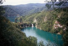Plitvice Lakes. The Plitvice Lakes is a unique natural pearl unrepeatable on any meridian or parallel of planet Earth...Srecko Bozicevic 1994 Stock Photos