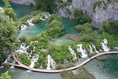 Plitvice Lakes. Waterfall at Plitvice Lakes, Croatia Royalty Free Stock Images