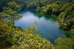 Plitvice lakes from above Royalty Free Stock Image