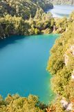 Plitvice lakes aerial view - Croatia Royalty Free Stock Photo