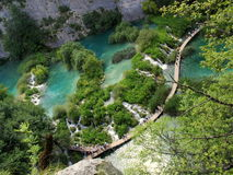 Plitvice lakes. Aerial view of the Plitvice Lakes National Park in Croatia Stock Images