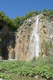 Plitvice lakes: big waterfall Royalty Free Stock Photo