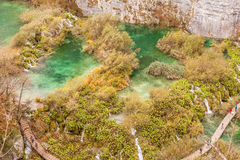 Plitvice lakes cascade Royalty Free Stock Images