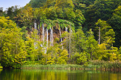 Plitvice lakes in Croatia stock photos