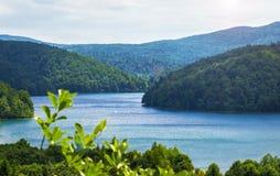 Plitvice lakes in Croatia. Breathtaking view in the Plitvice Lakes National Park (Croatia Stock Photo