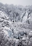 Plitvice Lakes, Croatia. Frozen waterfalls at national park, Plitvice lakes, Croatia Stock Images