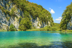 Plitvice lakes of Croatia,gorge in National Park Stock Photos